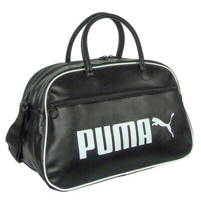 Fekete műbőr Puma utazótáska
